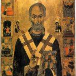 Икона Свт. Николая с житием